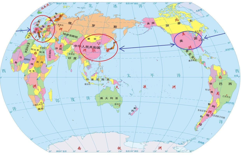 世界地图上人口稀疏区_世界地图