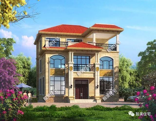 农村盖四间房子设计图