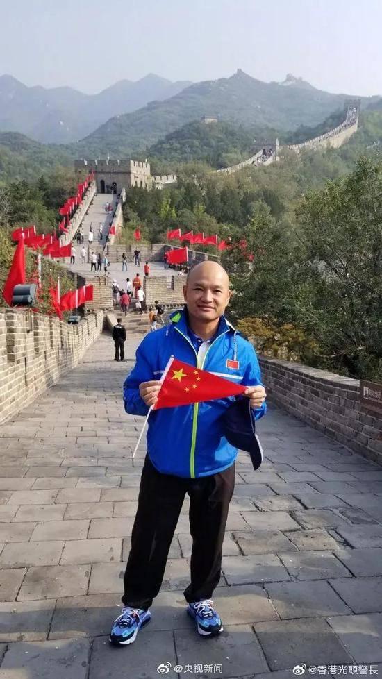 刘sir长城自拍照感慨:我终于完成我的愿望!