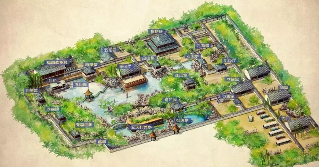 苏州怡园平面图高清