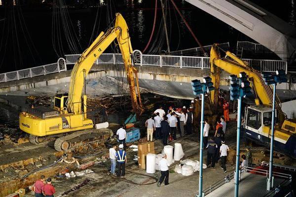 台湾南方澳大桥崩塌事故:寻获3具遗体、仍有3人失联