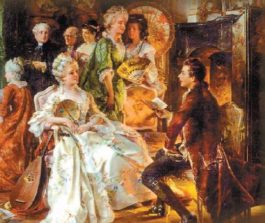 历史  到了17-18世纪,扇子更是欧洲宫廷贵妇们前往各种场合的随身物品图片