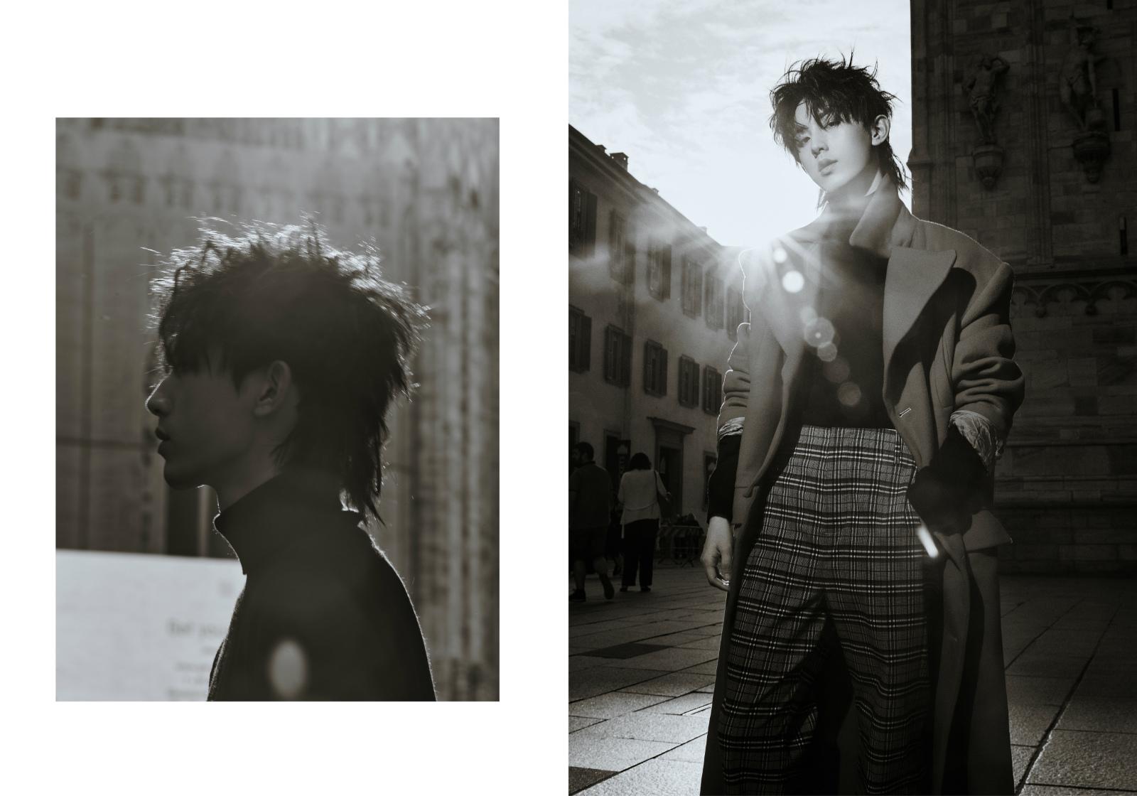 郭俊辰生日寫真驚豔曝光  黑白高級質感演繹别樣少年魅力