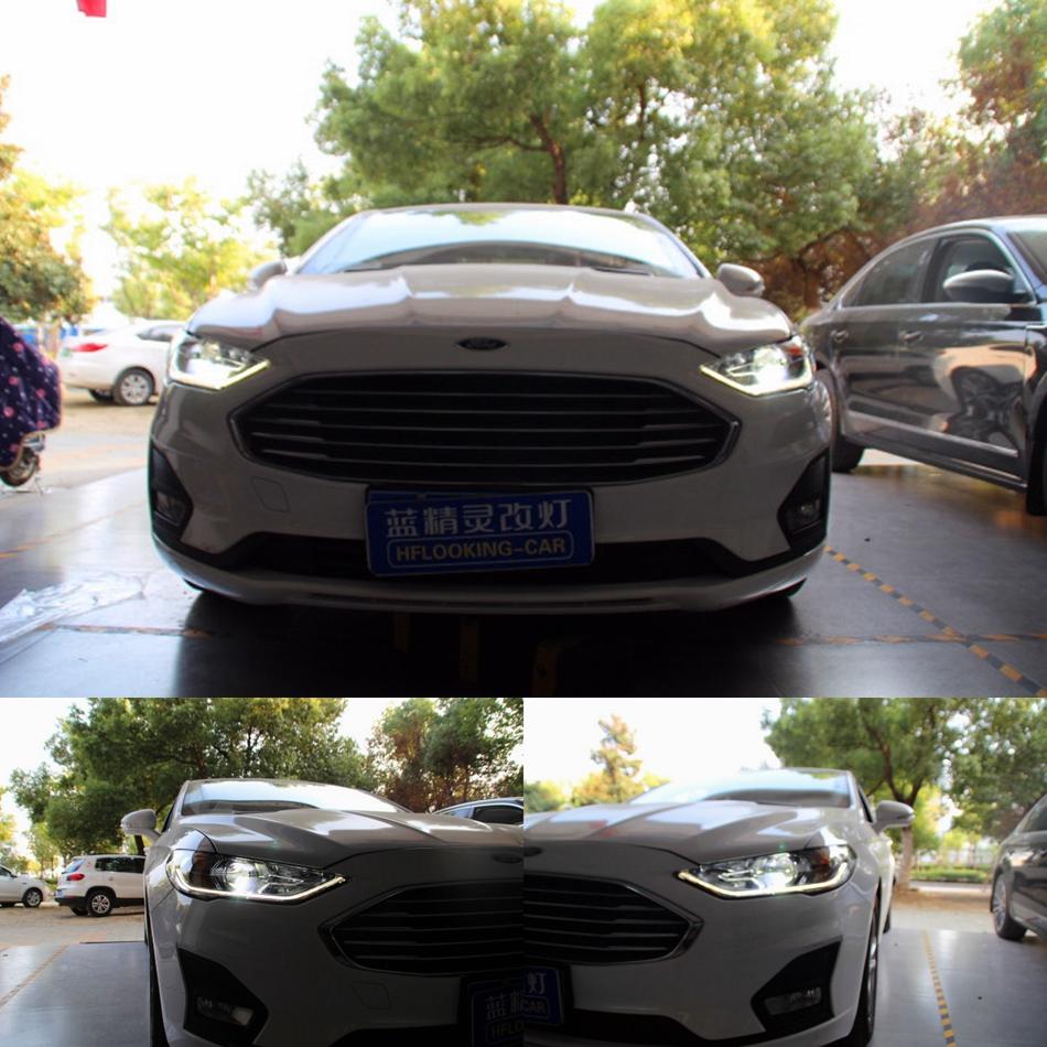 18款福特蒙迪欧改装LED车灯 安全出行从车灯改装开始