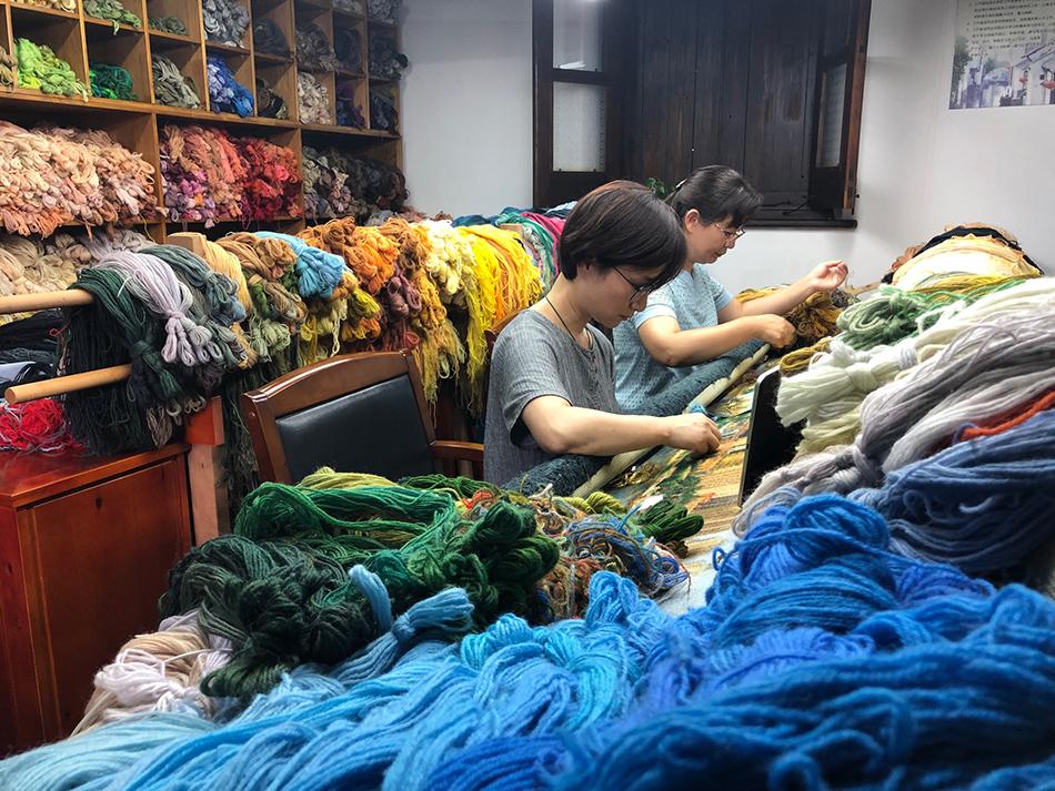 心爱的我国,猛进的上海|用千种绒线绣了一年,愿望之城再现