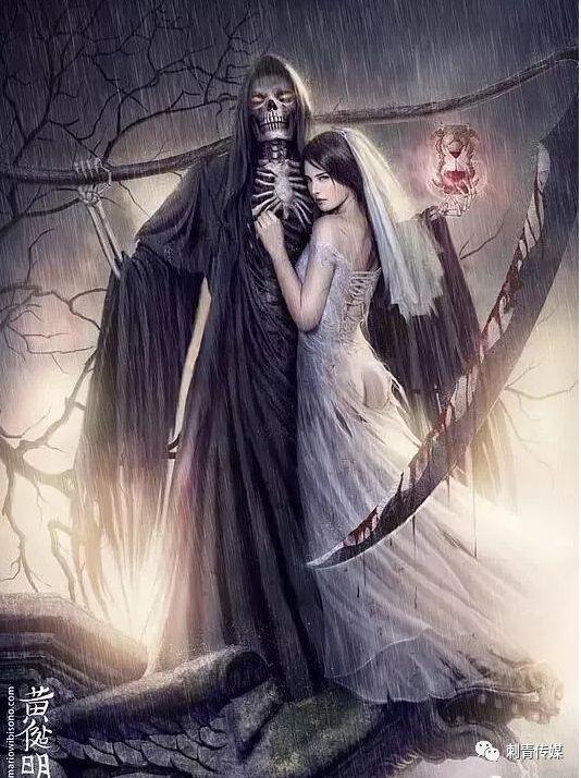 死神是古希腊神话人物,即死亡之神,居住在冥府.图片
