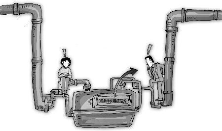 供暖用水串入自来水管道的原因