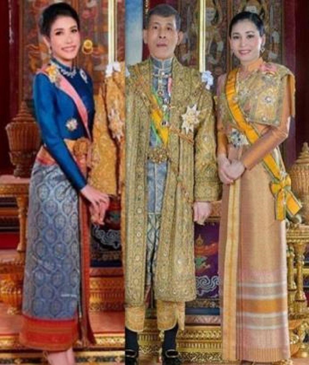 同样是祈福仪式:67岁泰王和苏提达如胶似漆,可惜原配孤身一人!