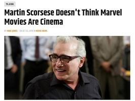 """马丁·斯科塞斯批评漫威电影引争议 """"滚导""""回应"""