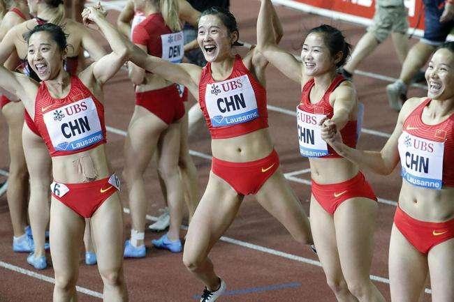 中国男女4X100米接力进决赛男队新阵破全国纪录