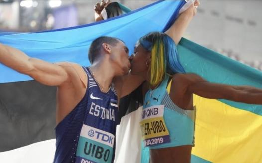 不同国籍不同肤色,这对夫妇同获田径世锦赛银牌