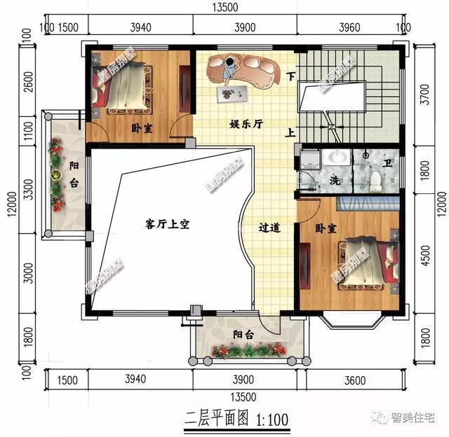 卧室的平面图 尺寸