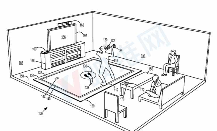 """微软提出""""虚拟现实地垫""""活动区,可支持WMR和Xbox"""