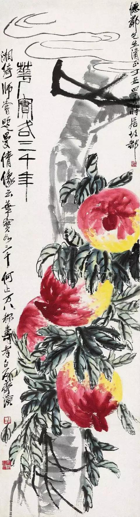 <b>齐白石 : 四个桃子3000万,世界上最贵!!</b>