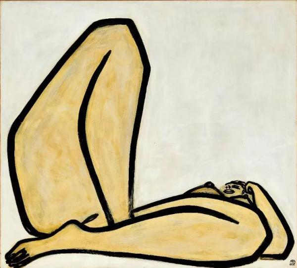 常玉《曲腿裸女》1.98亿港元香港成交,创个人拍卖纪录
