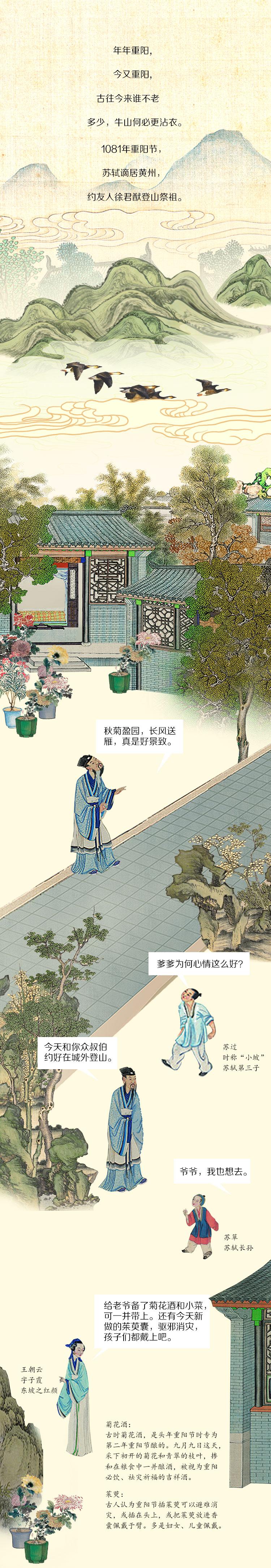 重阳节,苏轼登高远眺许下一个心愿