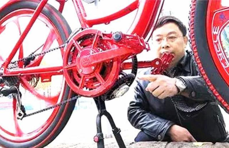 农村大爷发明360度任意踩自行车,出价660万都不卖!
