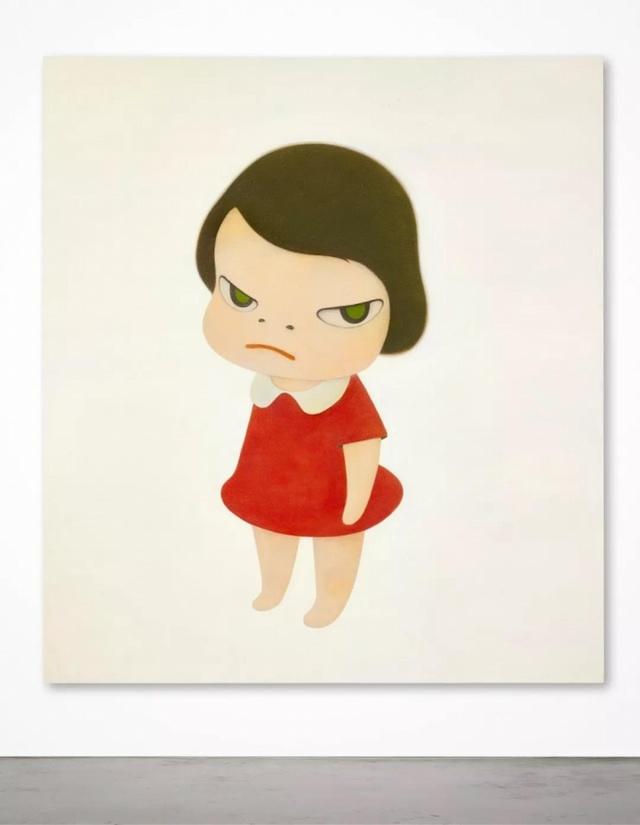奈良美智《背后藏刀》拍出近2亿,网友点评亮了:女人生气贼贵