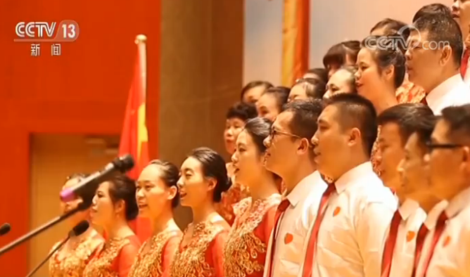 坦桑尼亚华人华侨用歌声祝福祖国
