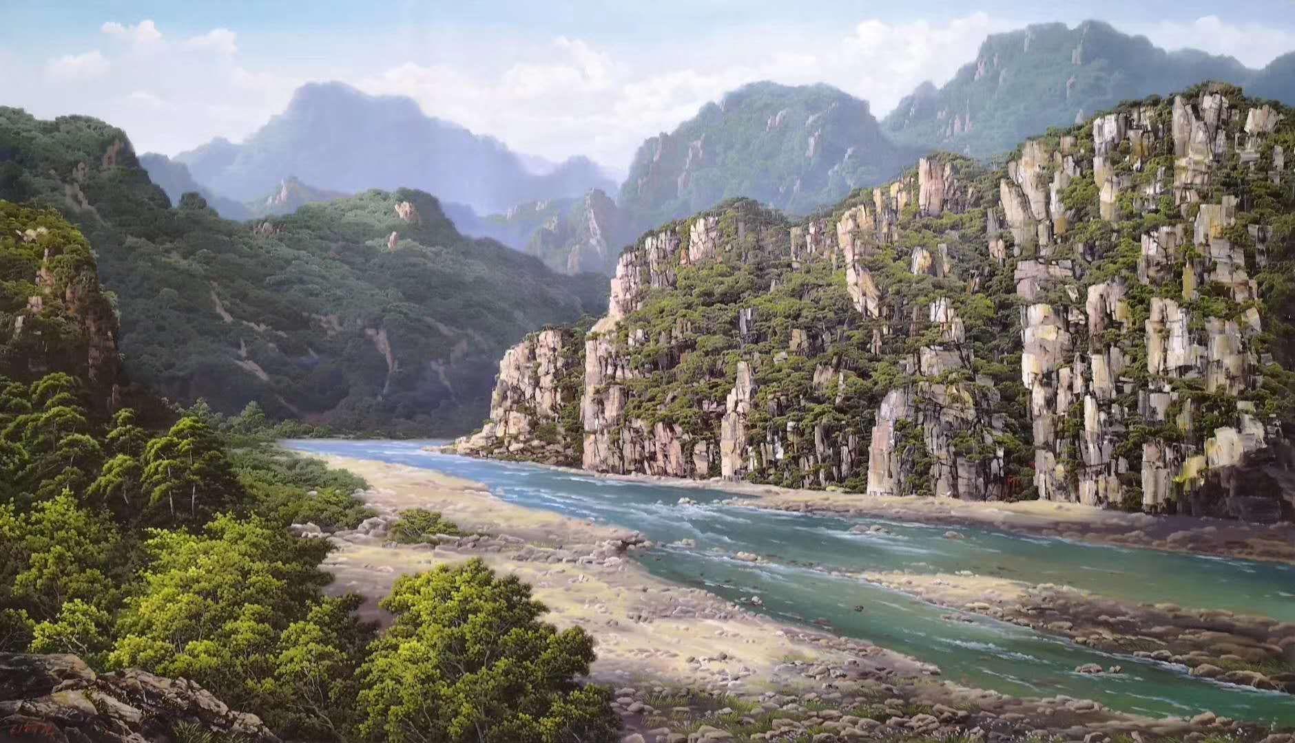 朝鲜画家李海天