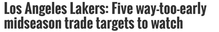 湖人补强5目标,美媒列5大交易方案,12+7神塔变X因素?_湖人队