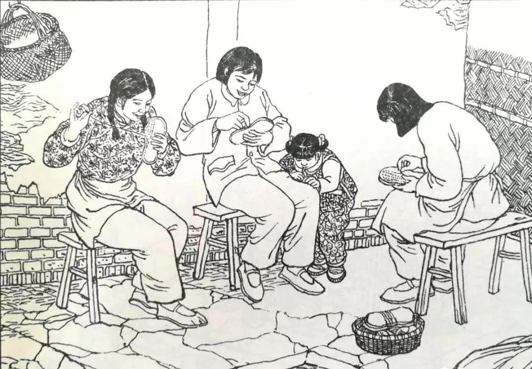 将轧熟了的棉花擀成棉花条,在纺纱车上(手车)纺成纱.部四教程燕十八图片