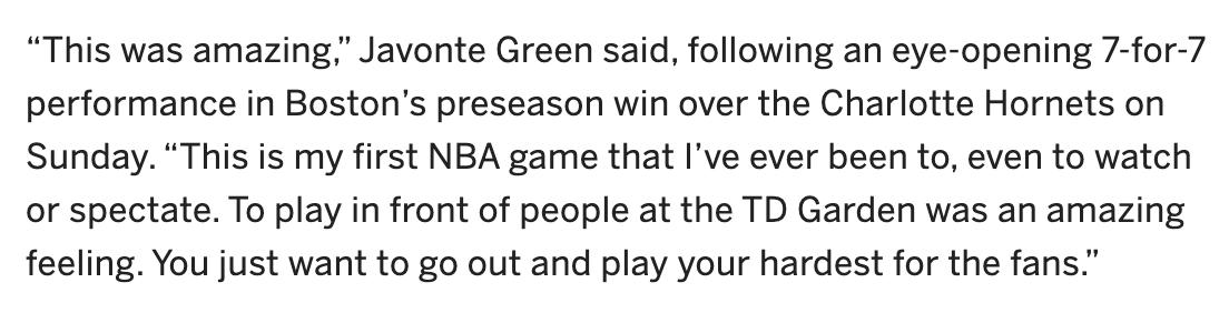 又是叫格林的人!首战10分钟7投全中5暴扣,他能进绿军轮换?_比赛
