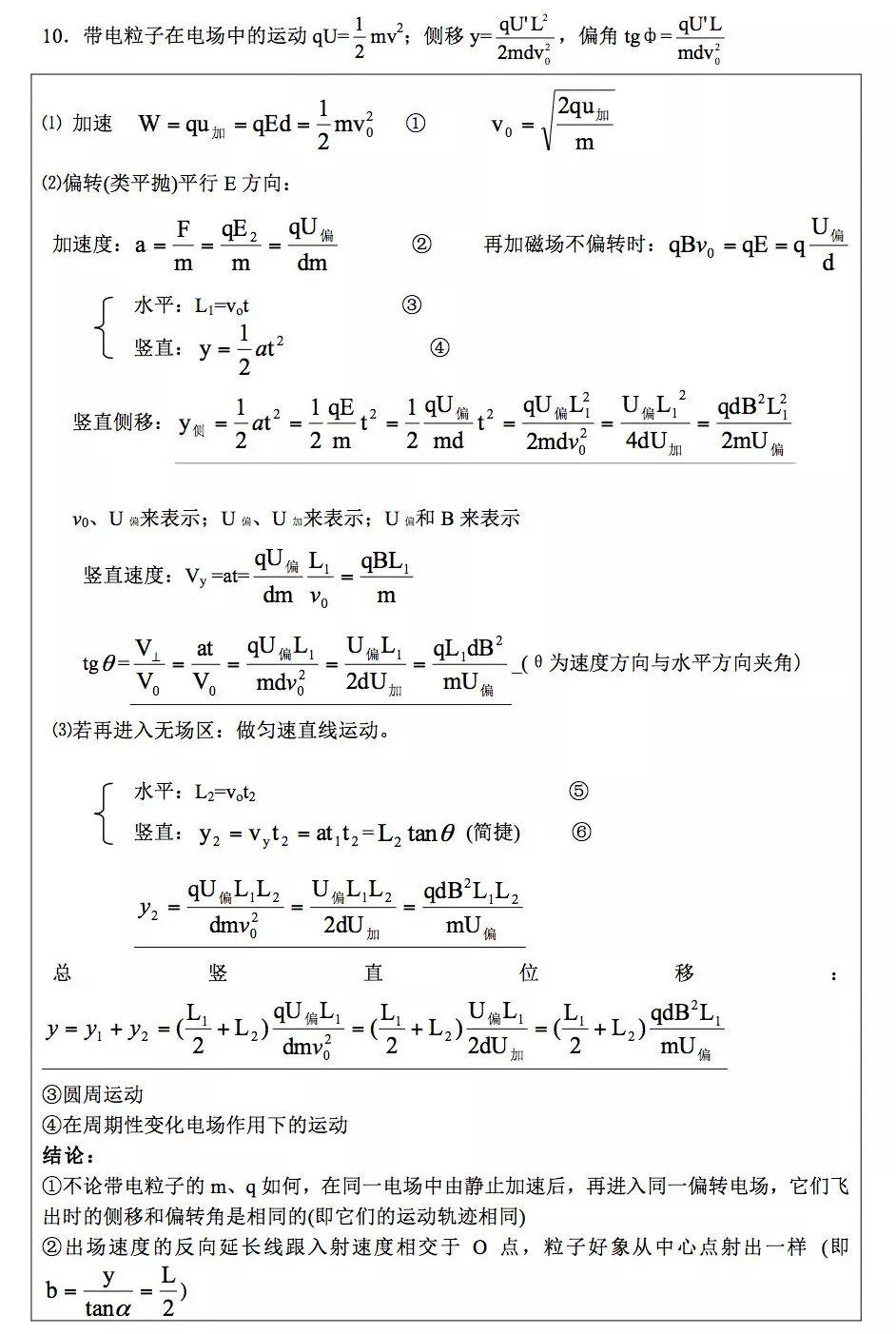 高中物理电学公式汇总-有考网