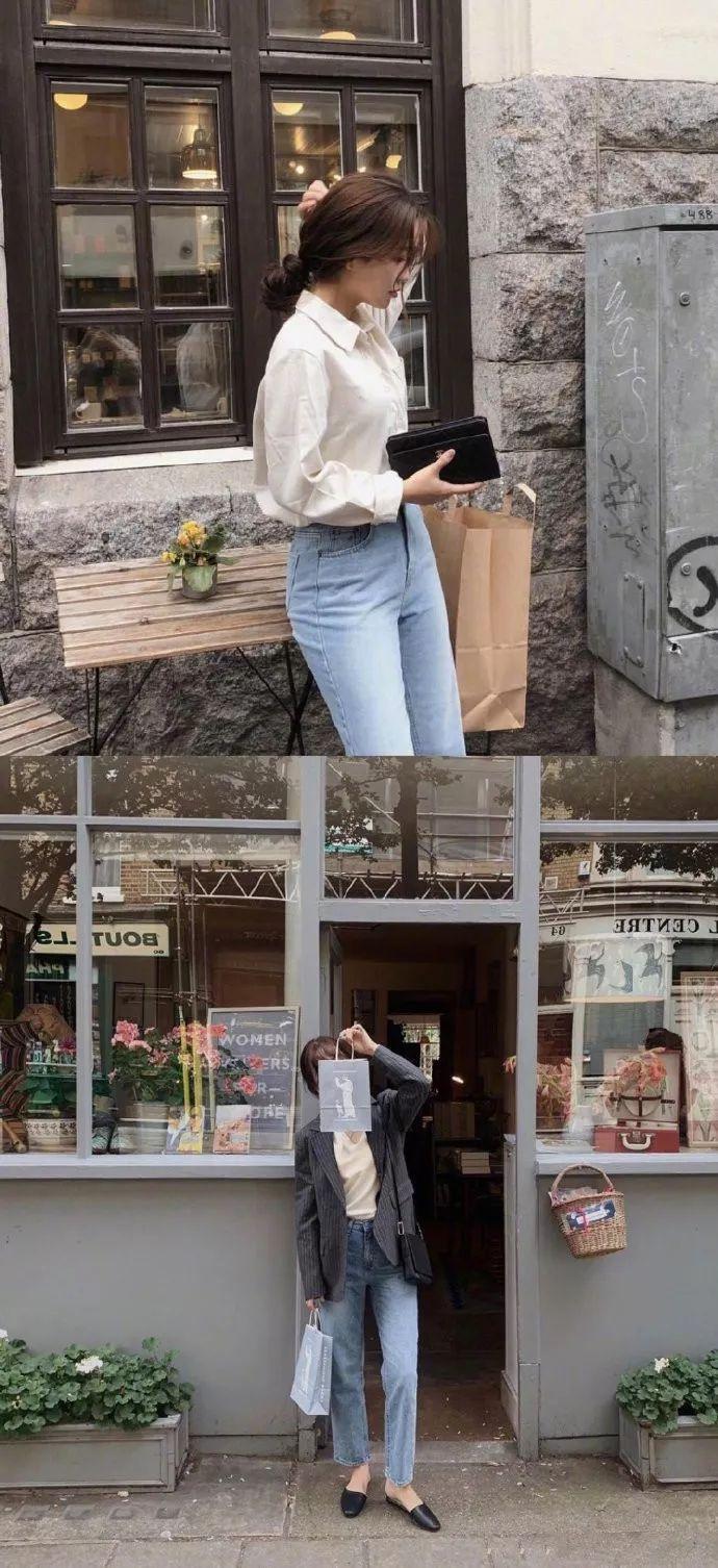 搭配示范 |韩国女生的欧洲游穿搭  简约时髦的法式气息 
