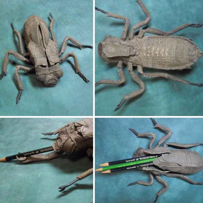 原创日本艺术家设计的逼真昆虫手提包和装饰品,简直另类到恐怖!