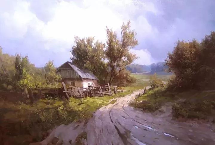 乌克兰油画风景的光与色,让人沉迷其中!