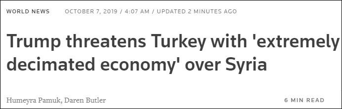 """<b>""""别越界,否则彻底摧毁土耳其经济""""</b>"""