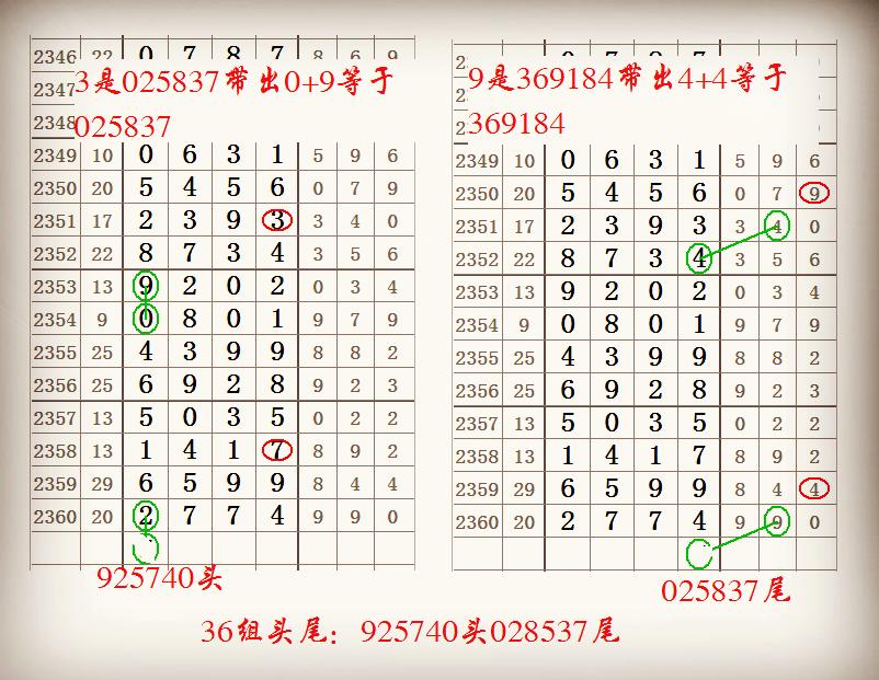 七星彩2361期基对与单双组成9组头尾又出来了