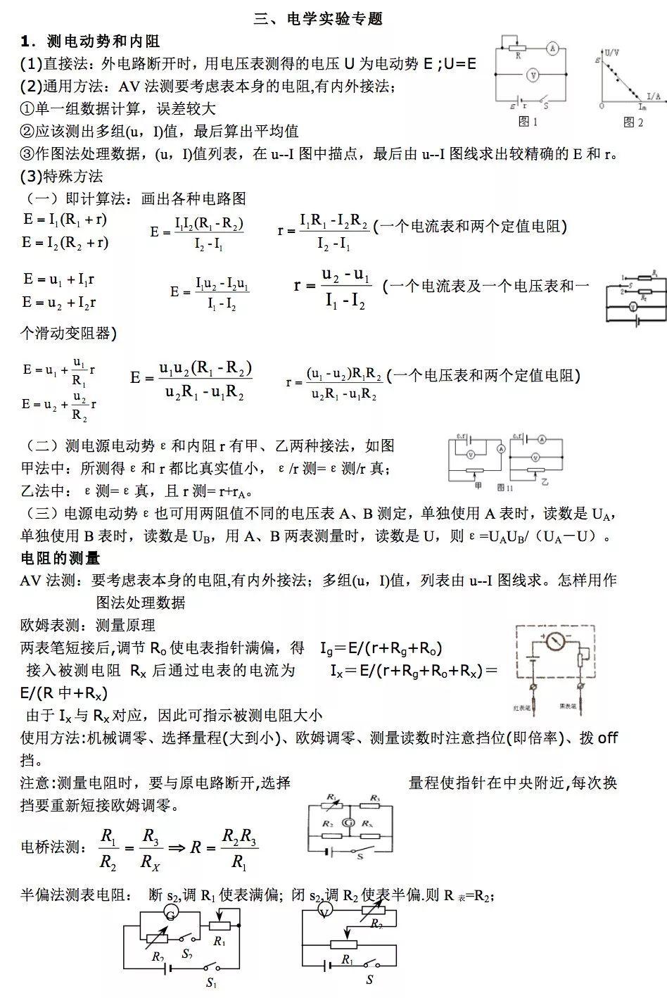 高中物理电学公式汇总高中物理电学公式大全- 豆丁网