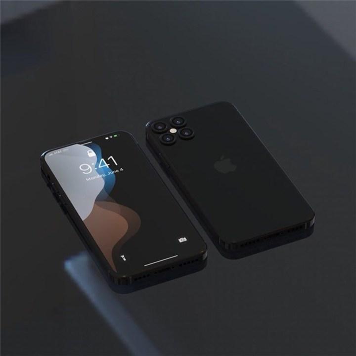 苹果iPhone12渲染图曝光:无刘海 更硬朗
