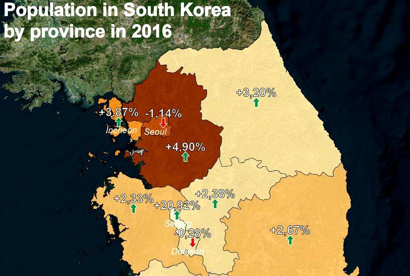 首尔市人口_首尔人口跌破千万的喜与忧