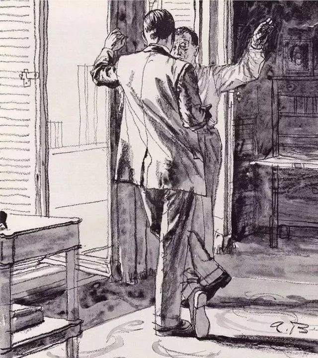 美国绘画大师Austin Briggs的速写,自信的线条