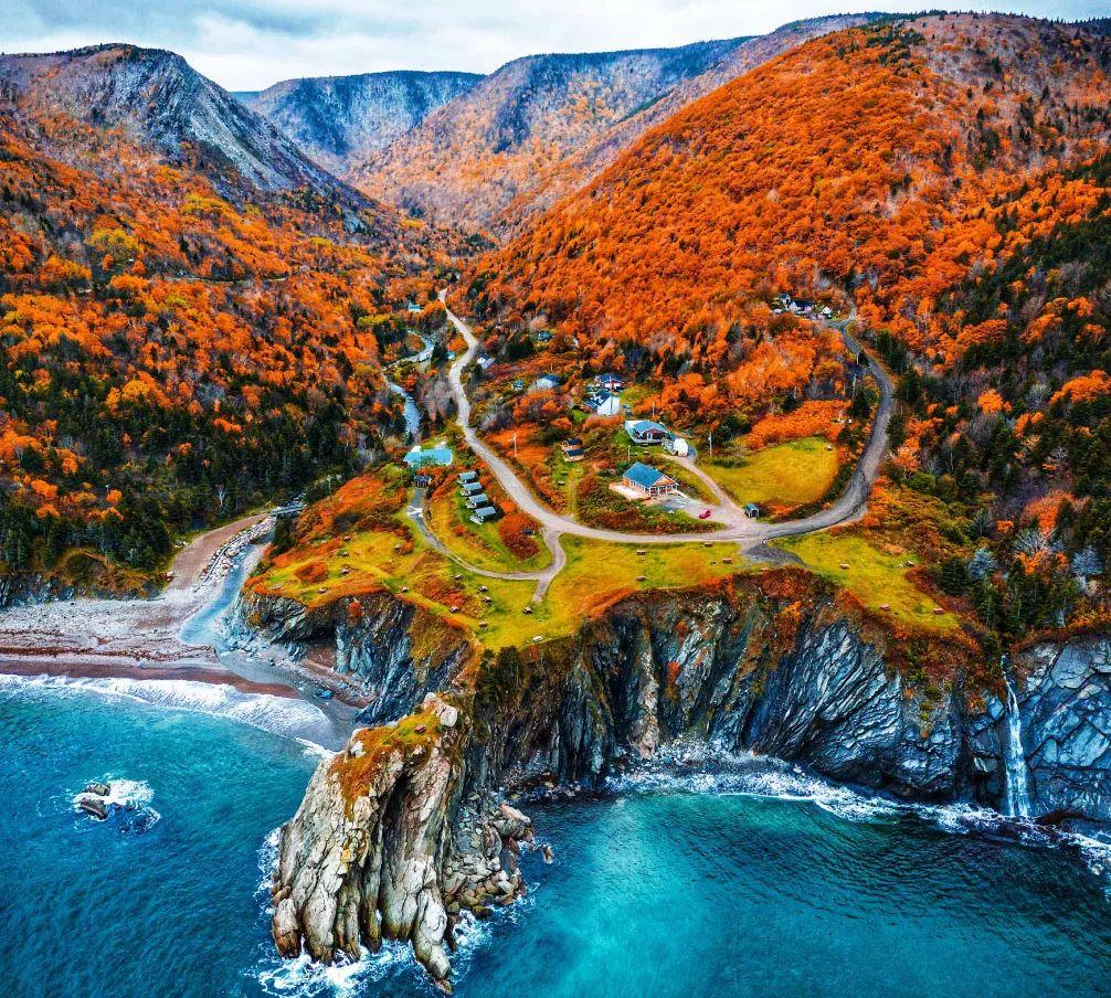壮观的高地和海洋风景,加拿大布雷顿角高地国家公园_网易视频