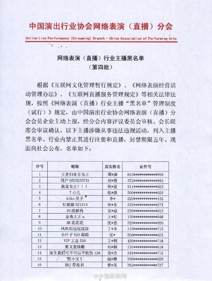 42名网络主播被封禁5年:宣扬色情、赌博等违法违规内容!