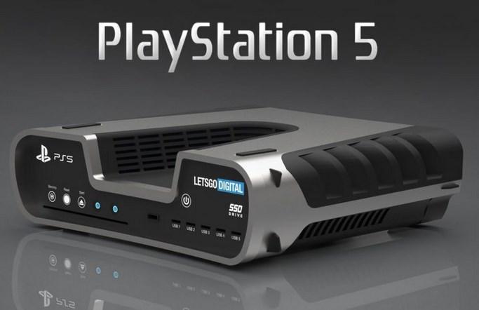 索尼PS5游戏主机最新渲染图曝光:银黑双色设计_Gddr