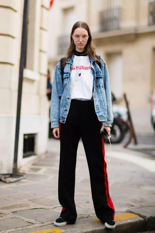 原创             寒露后别再穿九分裤了,试试保暖又时髦的拖地裤,轻松凹出大长腿