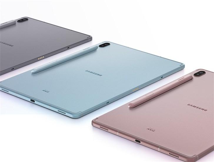 三星GalaxyTabS6平板上架:SPen+骁龙855,预售价5099元起