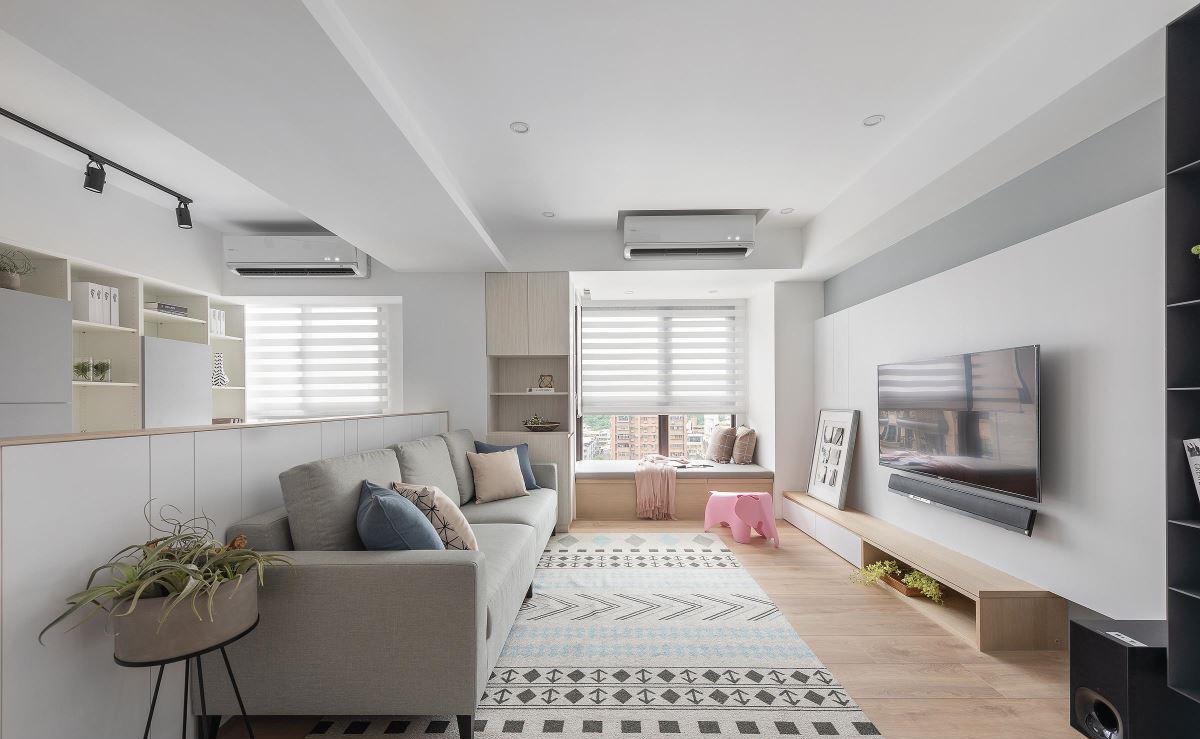成都三居室北欧风装修整个空间的柜子都特别的好看舒服