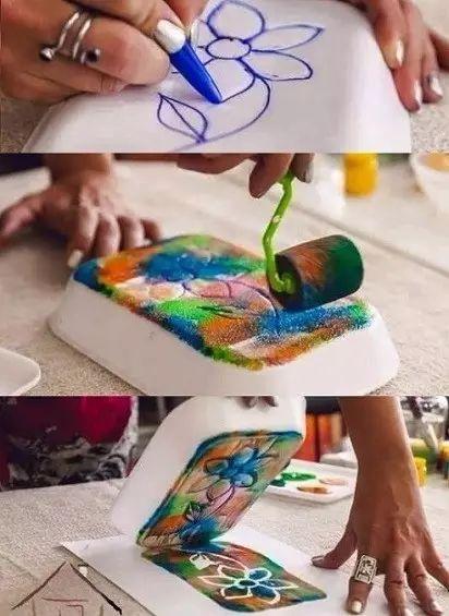 """【创意手工】超有创意的""""敲敲印印""""好玩到爆,全年龄美术活动就得这么玩!"""
