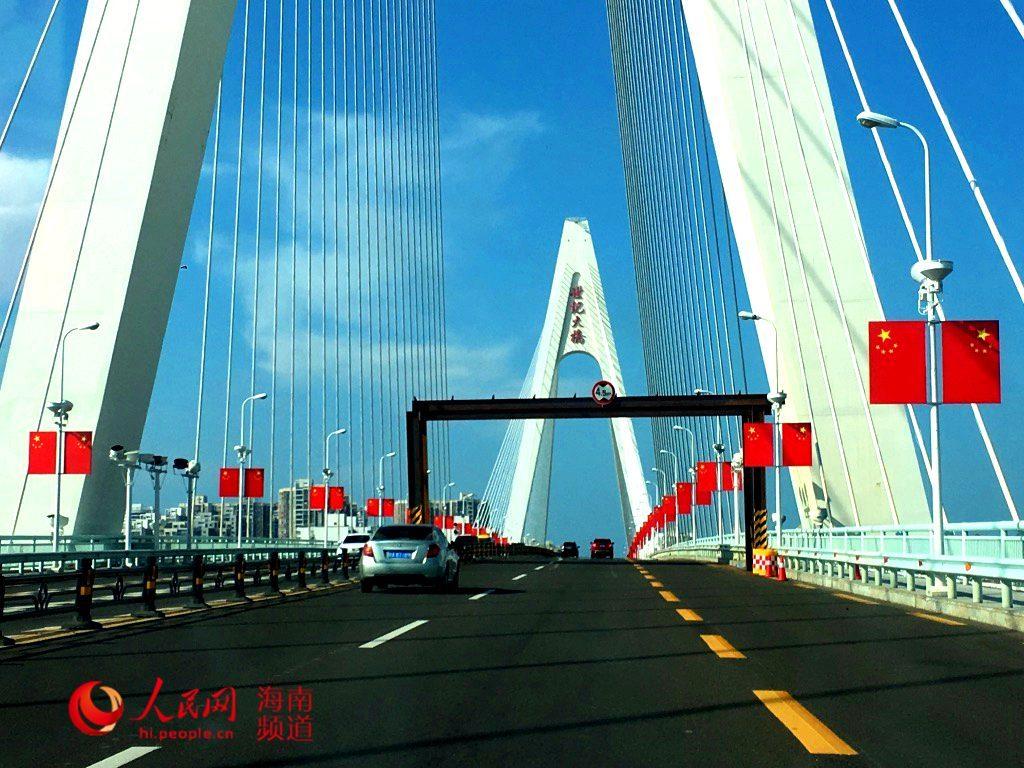 海口桥梁管理公司:网传世纪大桥设限高架实为维修养护的设施