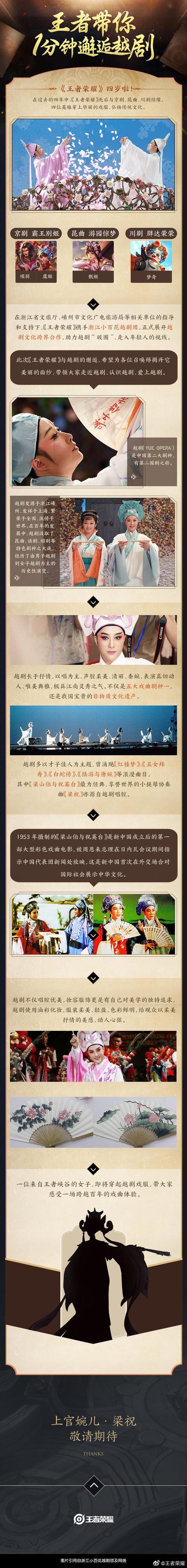 王者荣耀四周年活动预告:走近越剧解锁上官婉儿周年庆皮肤
