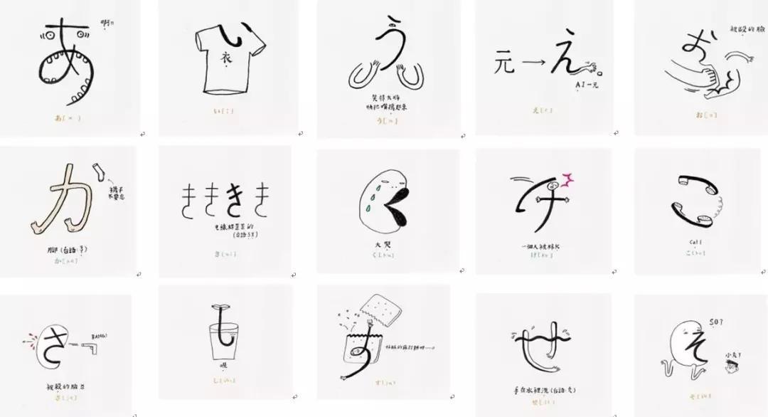 海到学园:日语五十音图快速记忆法—利用插画