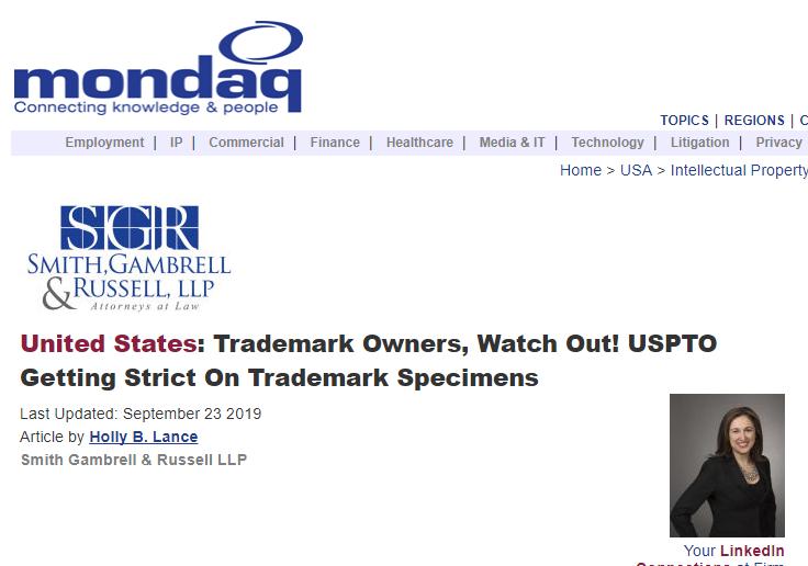 美国专利商标局将更加严格审查商标样本