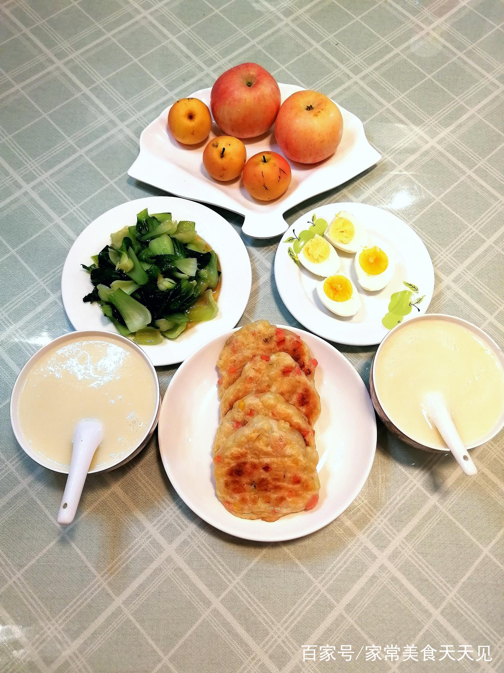 早起二十分钟做好的早餐,品种齐全,低脂肪低热量,真正的减肥餐