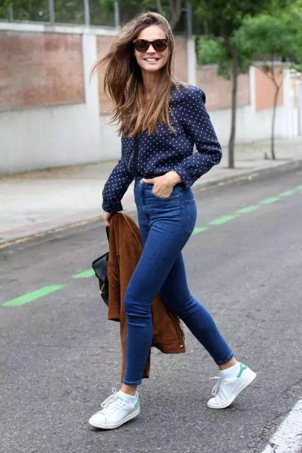 衬衫+牛仔裤,秋天秒变气质女王!